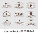 design wine logos  emblems  in... | Shutterstock .eps vector #322518464