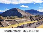 avenue of dead and sun pyramid  ... | Shutterstock . vector #322518740