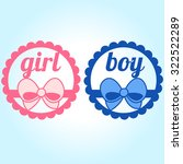 it's a girl and boy text | Shutterstock .eps vector #322522289