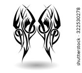 hand drawn tribal tattoo in... | Shutterstock . vector #322530278