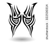 hand drawn tribal tattoo in... | Shutterstock . vector #322530314