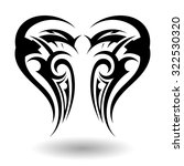 hand drawn tribal tattoo in... | Shutterstock . vector #322530320