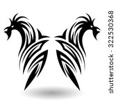 hand drawn tribal tattoo in... | Shutterstock . vector #322530368