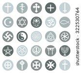 vector set of religious symbols | Shutterstock .eps vector #322530764