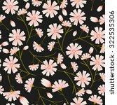 seamless daisy flower pattern... | Shutterstock .eps vector #322535306