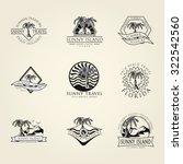 47 set concept  badge emblem... | Shutterstock .eps vector #322542560