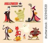 cute cartoon halloween... | Shutterstock .eps vector #322543520