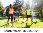 fitness  sport  friendship and... | Shutterstock . vector #322550354