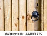 Part Of  A Wooden Gate With A...