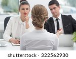 young woman and recruitment... | Shutterstock . vector #322562930