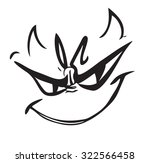 tricky face cartoon vector icon | Shutterstock .eps vector #322566458