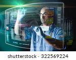 doctor working with modern...   Shutterstock . vector #322569224