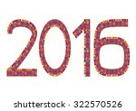 multi colored numbers of year... | Shutterstock .eps vector #322570526