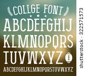 Serif Font In College Style....
