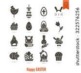 celebration easter icons.... | Shutterstock .eps vector #322576256
