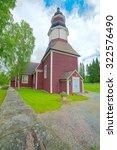 Small photo of KURU, FINLAND, JULY 25th 2015. The church of Kuru in Kuru, Finland on July 25th, 2015. Focus stacked.