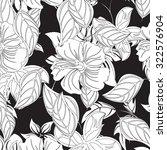 seamless flower background  ... | Shutterstock .eps vector #322576904