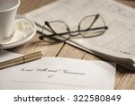 last will and testament form  | Shutterstock . vector #322580849