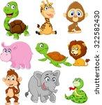 Stock vector illustration of animals 322582430