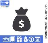 money bag . vector icon 10 eps