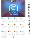 wall calendar poster for 2016...   Shutterstock .eps vector #322587194