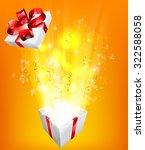 gift box explosion concept for... | Shutterstock .eps vector #322588058