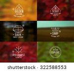 trendy retro badges in thin...   Shutterstock .eps vector #322588553
