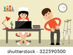 doctor talking to her male... | Shutterstock .eps vector #322590500