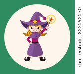 witch cartoon theme elements | Shutterstock .eps vector #322592570