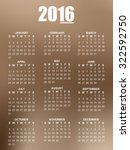 calendar of 2016 with blurred...