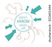 sketch arrows vector set | Shutterstock .eps vector #322601444