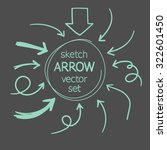 sketch arrows vector set | Shutterstock .eps vector #322601450