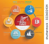 oil and industry info graphic... | Shutterstock .eps vector #322602434