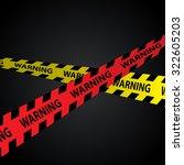 warning tape design on... | Shutterstock .eps vector #322605203