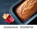 freshly baked pumpkin bread... | Shutterstock . vector #322608764