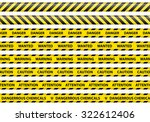 caution and danger ribbon sign...   Shutterstock .eps vector #322612406