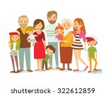 big family portrait | Shutterstock .eps vector #322612859