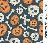 halloween seamless pattern with ...   Shutterstock .eps vector #322616270