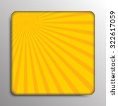 yellow shiny sun ray background.... | Shutterstock .eps vector #322617059
