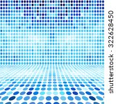blue dot empty perspective... | Shutterstock . vector #322628450