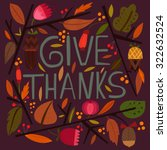 happy thanksgiving day card in... | Shutterstock .eps vector #322632524