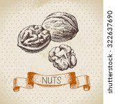 hand drawn sketch nut vintage... | Shutterstock .eps vector #322637690