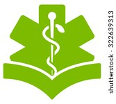 medical knowledge glyph icon....   Shutterstock . vector #322639313
