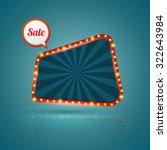trapezium retro sale banner.... | Shutterstock .eps vector #322643984