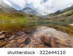 majestic mountain lake in...   Shutterstock . vector #322644110