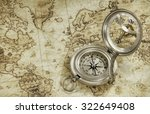 compass on a old world map | Shutterstock . vector #322649408