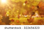 autumn leaves pattern against... | Shutterstock . vector #322656323