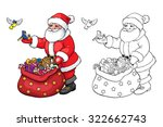 coloring book or page. santa...   Shutterstock .eps vector #322662743
