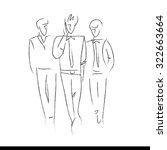 hand drawn design elements.... | Shutterstock .eps vector #322663664