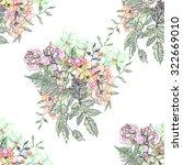 beautiful bouquet seamless... | Shutterstock . vector #322669010